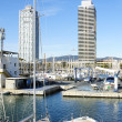 Overview of the Olympic Port of Barcelona — Stock Photo