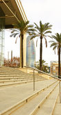 Stairs from the main entrance to the Teatre Nacional de Catalunya — Stock Photo