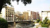Street Bridge Marina in Barcelona — Stock Photo