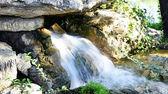 Source waterfall in a park — Zdjęcie stockowe