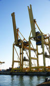 Gantry Cranes in the port — Foto Stock