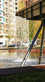 Source waterfall in the Gran Via de les Corts Catalanes — Stock Photo