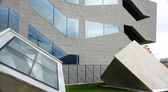 Concrete cubes and glass Museum of Design — Stock Photo