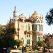 Catalan modernist buildings of the hospital complex of Sant Pau — Stock Photo
