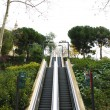 Escalators in Montjuic — Stock Photo
