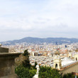 Stock Photo: View of Barcelonfrom Montjuic