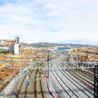 Stock Photo: Overview of works of AVE high speed train