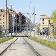 Collblanc tram tracks — Foto Stock