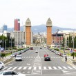 Overview of the Paseo de Maria Cristina, Montjuic — Stock Photo #30483185