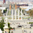 Stock Photo: Panoramic of Barcelonfrom Montjuic