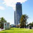 Gardens and towers of the Olympic village — Foto de Stock