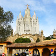Temple of the Sacred Heart in Tibidabo — Stockfoto