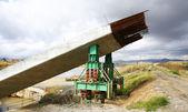 Beams for the construction of a bridge over the river Llobregat — Stock Photo