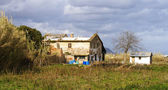 Rural house in the Delta del Llobregat — Stock Photo