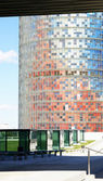 Torre Agbar with glass cubes — Stock Photo