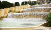 Waterfall Fountain of Montjuic — Stock Photo