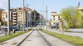 Collblanc трамвайные пути — Стоковое фото