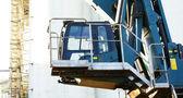 Control cabin of a crane — Stock Photo