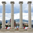 Stock Photo: Ornamental columns in Montjuic