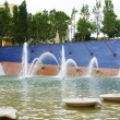Fountain and pond ornamental NEnseya ca Square — Stock Photo