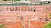 Aerial view of tennis courts in Montjuic — ストック写真