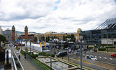 Overview of the Maria Cristina Avenue with Motor Show 2.013, Barcelona — Stock Photo