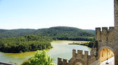 Foix reservoir from the castle of Castellet i la Gornal — Stock Photo