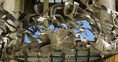 Architectural detail of building La Pedrera by Gaudi — Stock Photo