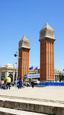 Venetian Towers on the Plaza of Spain — Foto de Stock