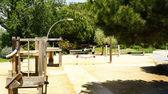 Joan brossa bahçelerde ahşap yapılar — Stok fotoğraf