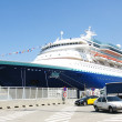 Transatlantic in the port of Barcelona — Stock Photo