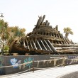Rest of Phoenician shipwreck in a park in Arrecife — Stock Photo