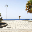 Promenade and park in Arrecife — Stock Photo