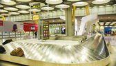 Tape bags at the airport of Barajas, Terminal 4, Madrid — Stock Photo