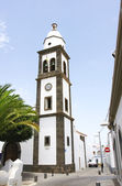 Bell tower of the church of San Ginés in Arrecife — Stock Photo