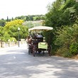 Stroll along Montjuic with carriage — Stock Photo