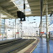 Platforms and trains at Atocha station — Stock Photo