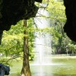 Stock Photo: Pond Crystal Palace in El Retiro