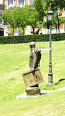 Sculpture of a man picture in the gardens of the Prado Museum — Stock Photo