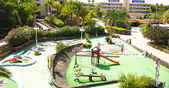 Minigolf and playground in a resort — Stock Photo