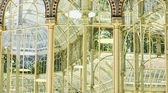 Interior and exterior view of Crystal Palace — Stock Photo