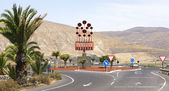 Roundabouts on the roads of Lanzarote — Stock Photo
