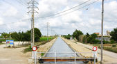 Canal irrigation for rice plantation — Stock Photo