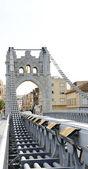 Bridge over the Ebro river — Stock Photo