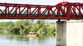 Iron Bridge over the Ebro river — Stock Photo