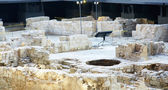 Archaeological remains in Barcelona's Born — Stock Photo