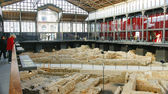 Archaeological remains in Barcelona's Born — Foto de Stock