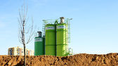 Cement Silos in a work — Stock Photo