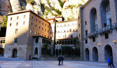 View of the Monastery of Montserrat — Stock Photo