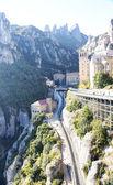View of the station zipper and rails of Montserrat — Zdjęcie stockowe